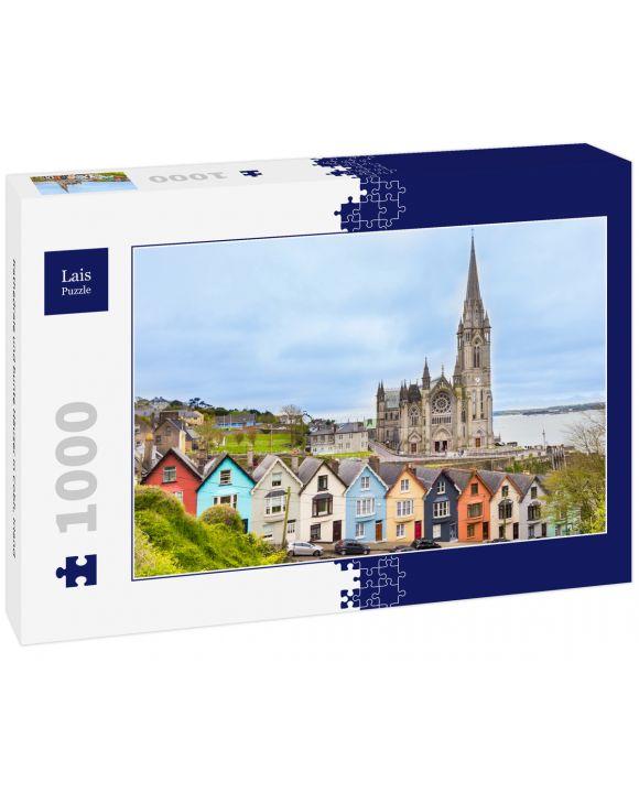 Lais Puzzle - Kathedrale und bunte Häuser in Cobh, Irland - 1.000 Teile