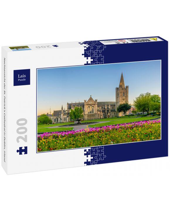 Lais Puzzle - Nachtansicht der St. Patrick's Cathedral in Dublin, Irland - 200 Teile