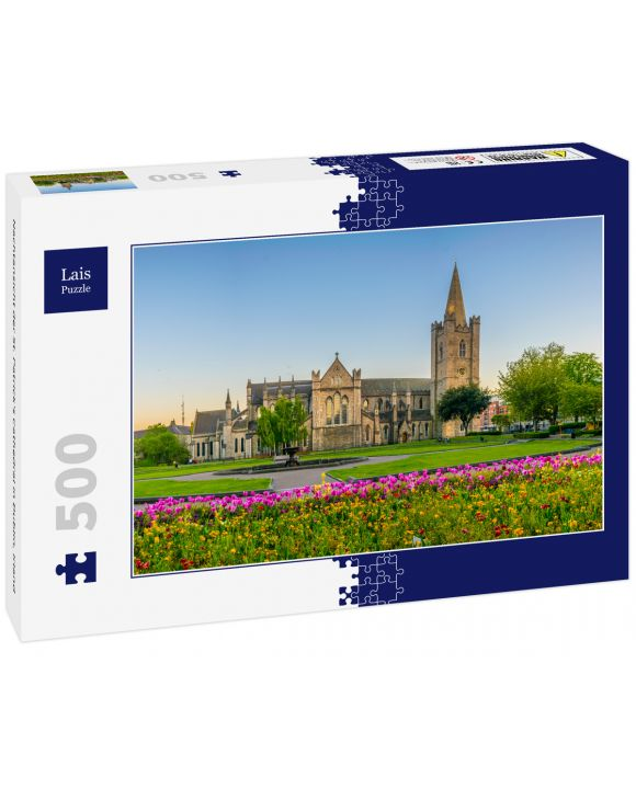 Lais Puzzle - Nachtansicht der St. Patrick's Cathedral in Dublin, Irland - 500 Teile