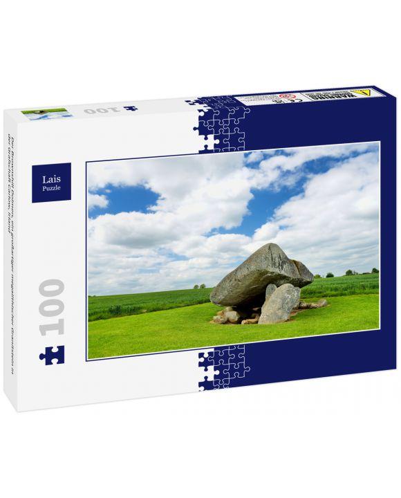 Lais Puzzle - Der Brownshill Dolmen, ein großartiger megalithischer Granitstein in der Grafschaft Carlow, Irland - 100 Teile