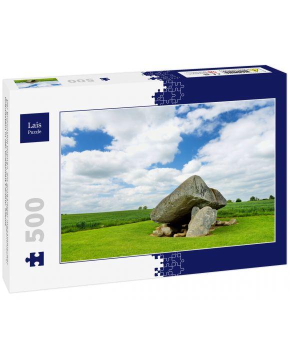 Lais Puzzle - Der Brownshill Dolmen, ein großartiger megalithischer Granitstein in der Grafschaft Carlow, Irland - 500 Teile