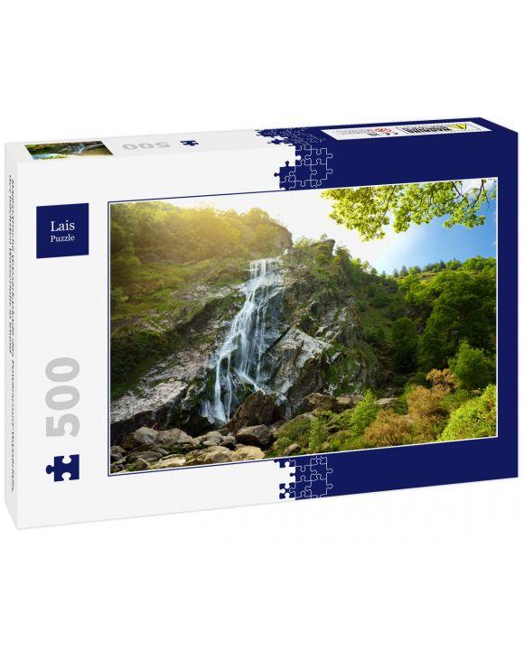Lais Puzzle - Majestätische Wasserkaskade des Powerscourt-Wasserfalls, des höchsten Wasserfalls in Irland - 500 Teile