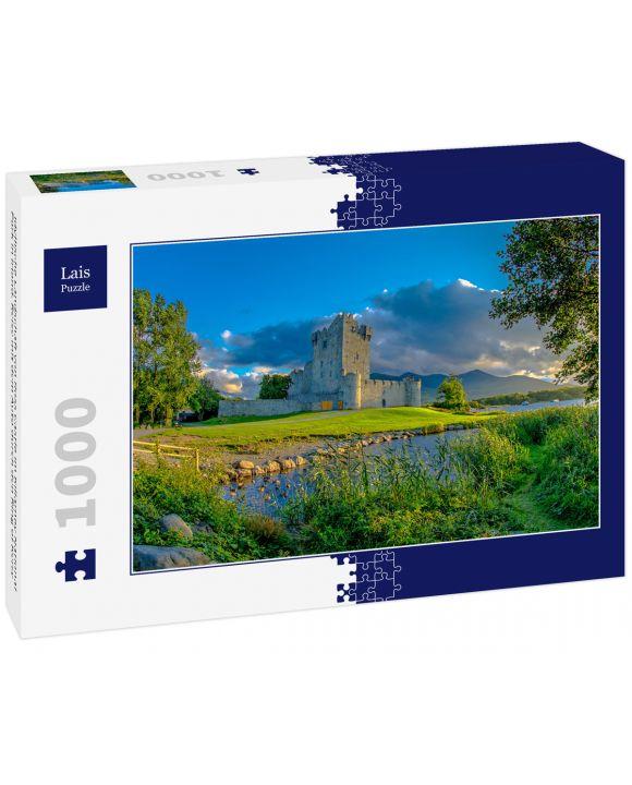 Lais Puzzle - Idyllische Landschaft von Ross Castle im Killarney National Park in Irland. Reise mit dem Auto durch den Ring of Kerry - 1.000 Teile