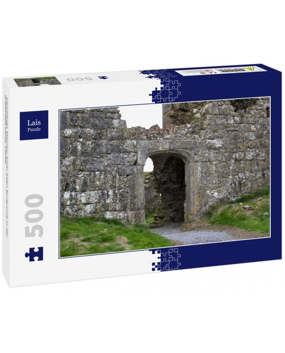 Lais Puzzle - Gewölbtes Steintor einer alten Burgruine in der Grafschaft Laois, Irland - 500 Teile