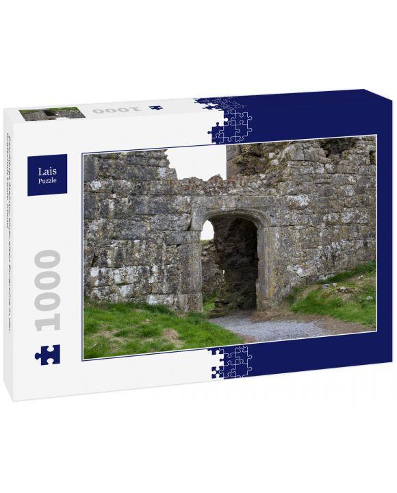 Lais Puzzle - Gewölbtes Steintor einer alten Burgruine in der Grafschaft Laois, Irland - 1.000 Teile