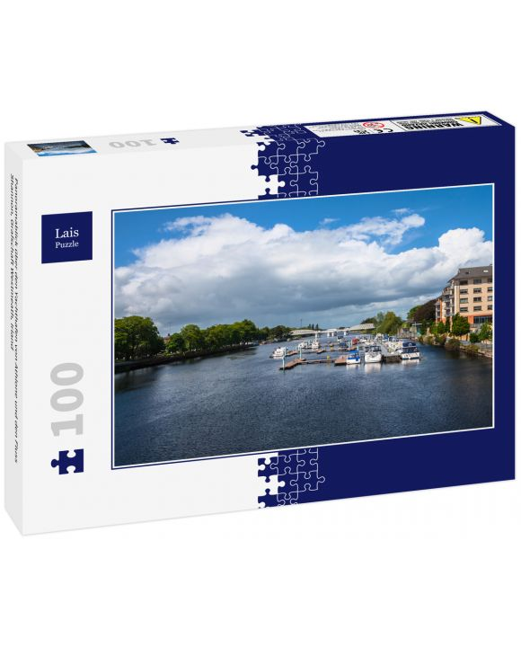 Lais Puzzle - Panoramablick über den Yachthafen von Athlone und den Fluss Shannon, Grafschaft Westmeath, Irland - 100 Teile