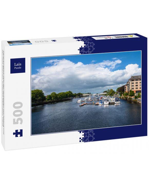 Lais Puzzle - Panoramablick über den Yachthafen von Athlone und den Fluss Shannon, Grafschaft Westmeath, Irland - 500 Teile