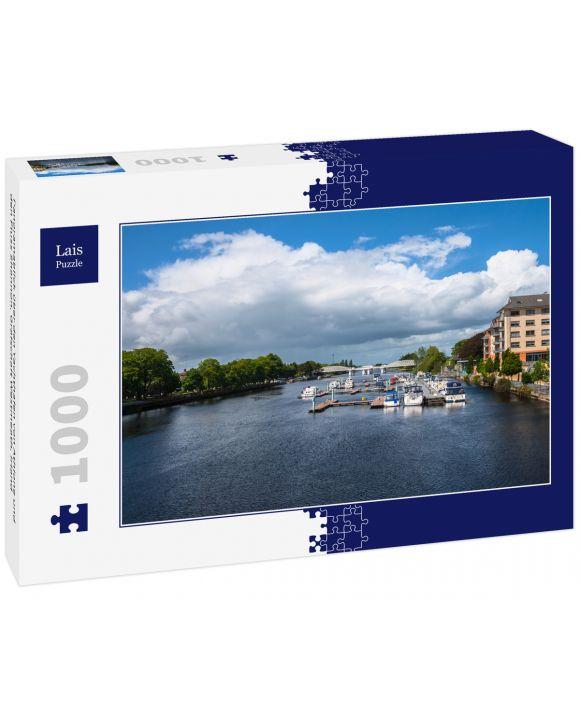 Lais Puzzle - Panoramablick über den Yachthafen von Athlone und den Fluss Shannon, Grafschaft Westmeath, Irland - 1.000 Teile