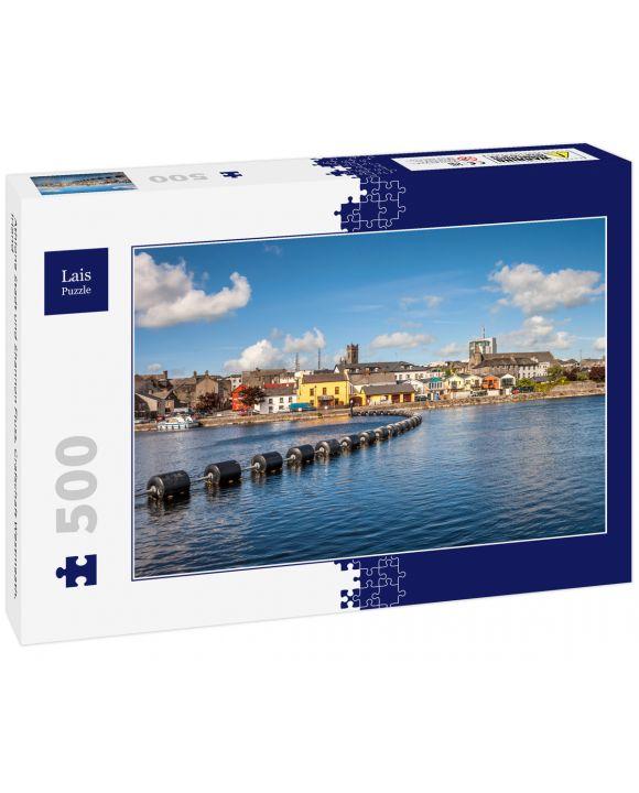 Lais Puzzle - Athlone Stadt und Shannon Fluss, Grafschaft Westmeath, Irland - 500 Teile