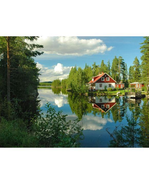 Lais Puzzle - Haus Wasser Reflexion Schweden - 1.000 Teile